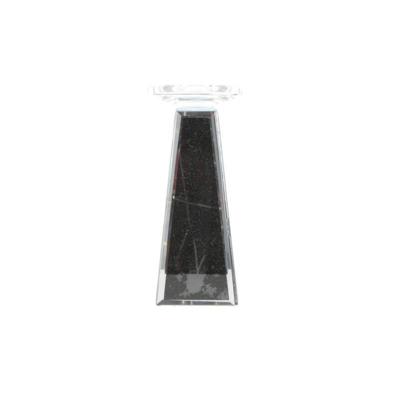 Tw.sztuczne świecznik 22cm BLACK GLITTER