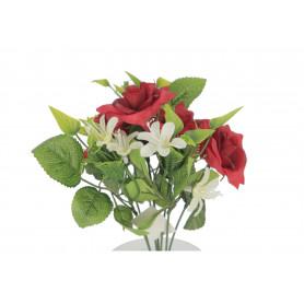 Kwiaty sztuczne- mały bukiet róża
