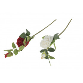 Kwiaty sztuczne róża gałązka welwet