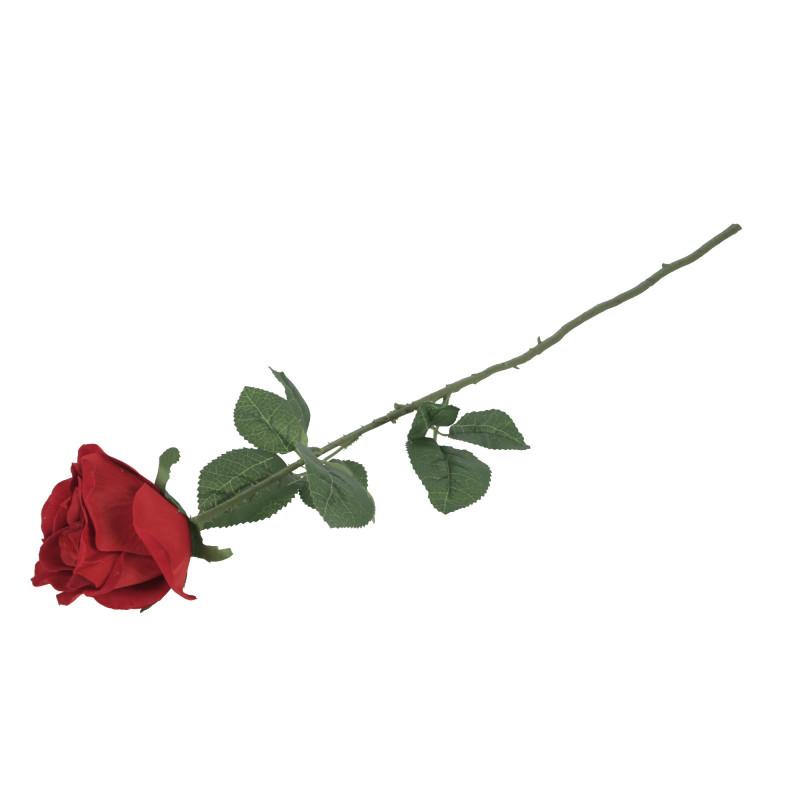 Kwiaty sztuczne pąk róży gałązka welwet