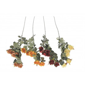 Kwiaty sztuczne róża gałązka elegance 5 kwiatów