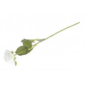Kwiaty sztuczne róża rozkwitnięta na gałązce