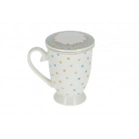 Ceramiczny kubek z zaparzaczem 320 ml