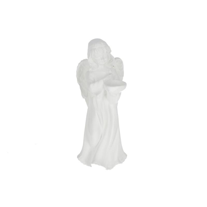 Gipsowy anioł duży stojący 38cm