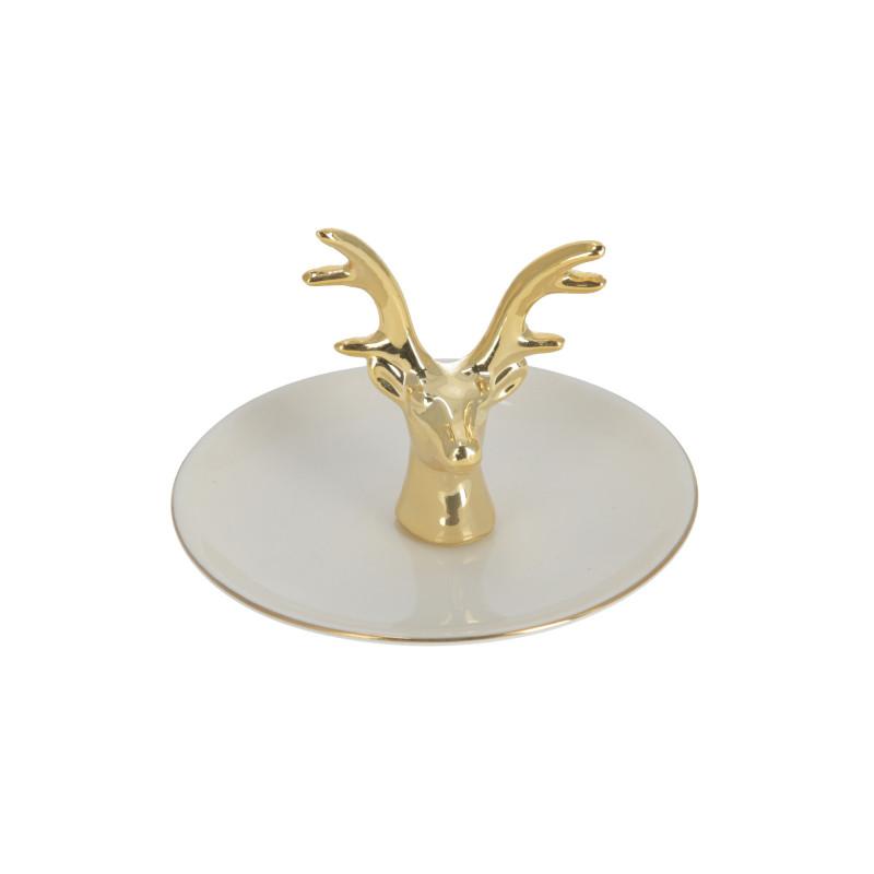 Ceramika talerzyk na biżuterię Renifer