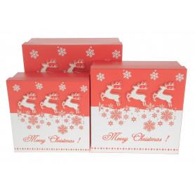 Bożonarodzeniowy FLOWER BOX renifer 3w1