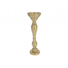 Drewniany świecznik METALLIC