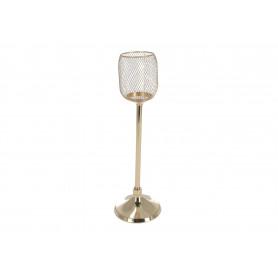 Metalowy świecznik złoty CUP GOLD