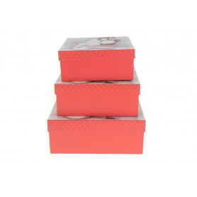 Bożonarodzeniowy FLOWER BOX mikołaj 3w1