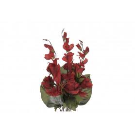 Kwiaty sztuczne róża mieczyk bukiet