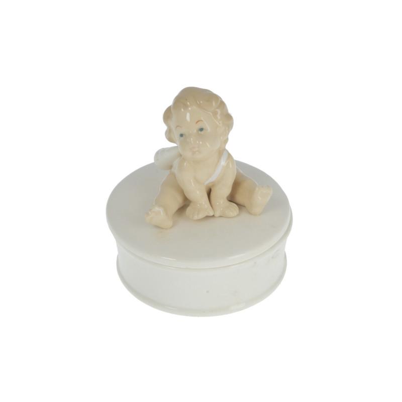 Ceramiczna szkatułka z aniołkiem