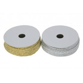Tw.sztuczne sznurek 3mm/10y złoty/srebrn