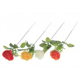 Kwiaty sztuczne róża pik gałązka