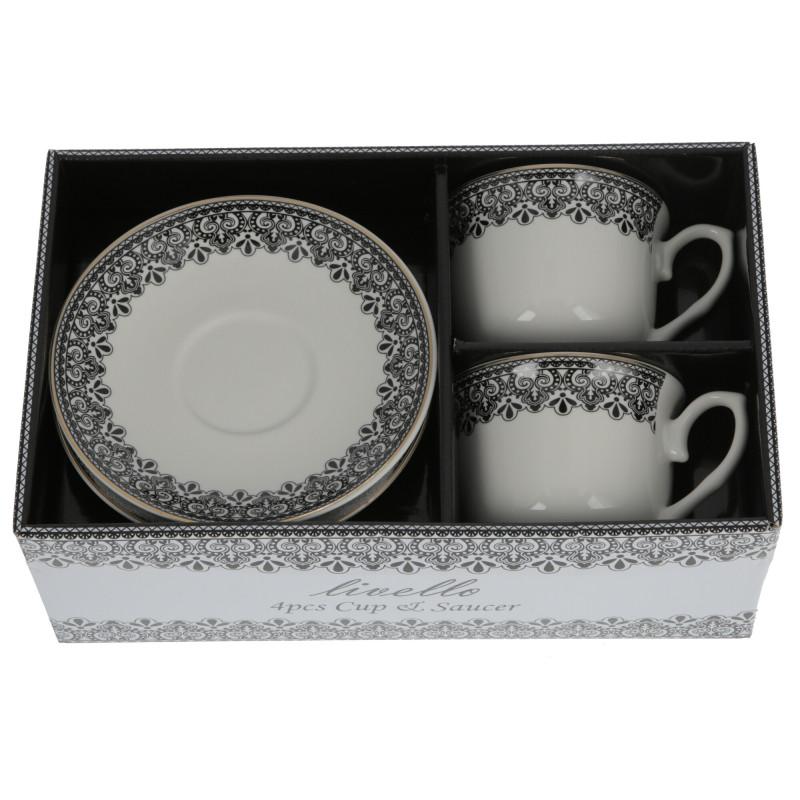 Ceramika filiżanka ze spodkiem 250ml s/2