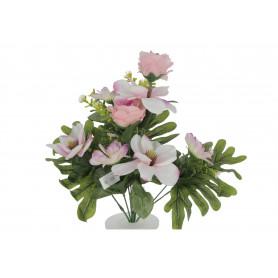 Kwiaty sztuczne bukiet róż i gerber