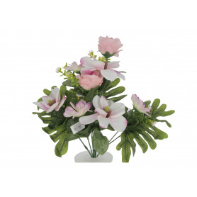 Kwiaty sztuczne bukiet róż i magnolii