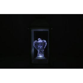 Bożonarodzeniowa latarnia led z aniołem