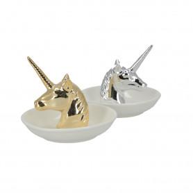 Ceramika spodek na biżuterię jednorożec