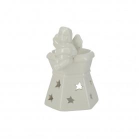 Ceramiczny domek t-light z aniołem