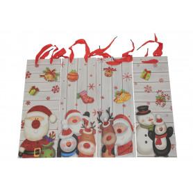 Papier- bożonarodzeniowa wino torba