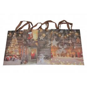 Bożonarodzeniowa torebka kompozycja śred
