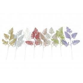 Kwiaty sztuczne liść brokat
