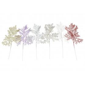 Kwiaty sztuczne liście brokat
