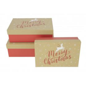 Bożonarodzeniowy FLOWER box choinki kpl