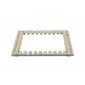 Szklana podstawka pod świece 15x15x1
