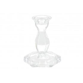 Szklany świecznik PATRICIA 7,6x7,6x10,5