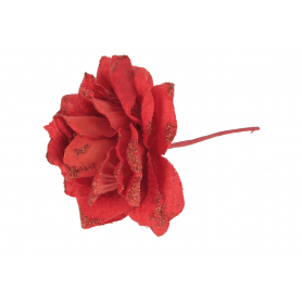 Kwiaty sztuczne róż pik brokatowy