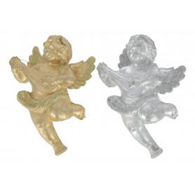 Рождественский декоративный ангелок СЕРЕБРО И ЗОЛОТО