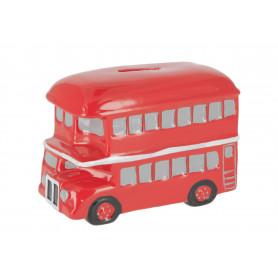 Ceramiczna skarbonka brytyjski bus