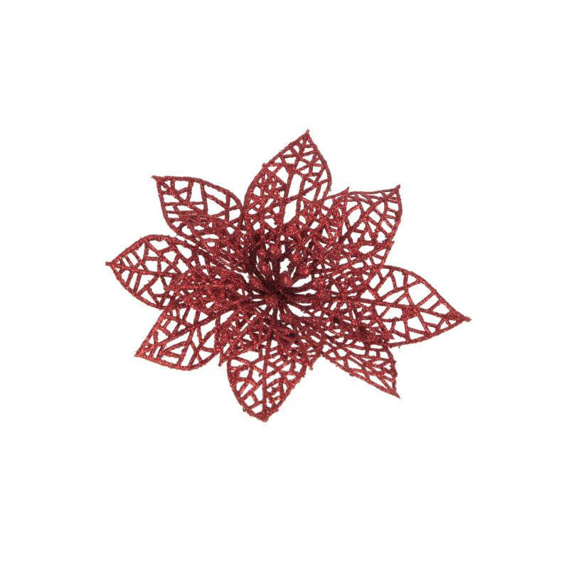 Kwiaty sztuczne gwiazda brokat 13cm