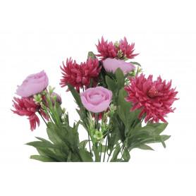 Kwiaty sztuczne bukiet chryzantem i kamelki