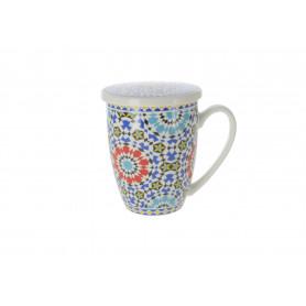 Ceramika kubek z zaparzczem MAROKO