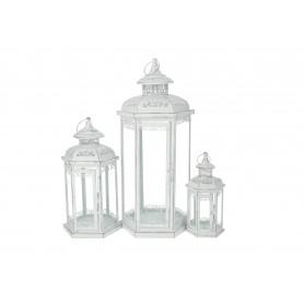 Metalowe latarnie s/3 53cm,36cm,25cm