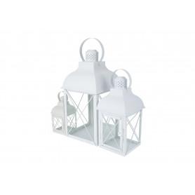 Metalowe białe latarnie