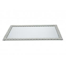 Szklana podstawka pod świecę 40x24x1cm