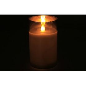 Sztuczne świeca led w szkle 7,5x12,5