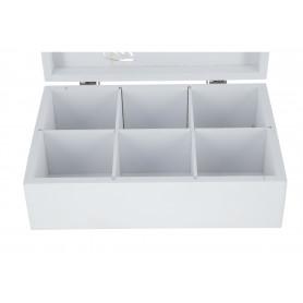 Деревянная коробка для чая 24x16x7