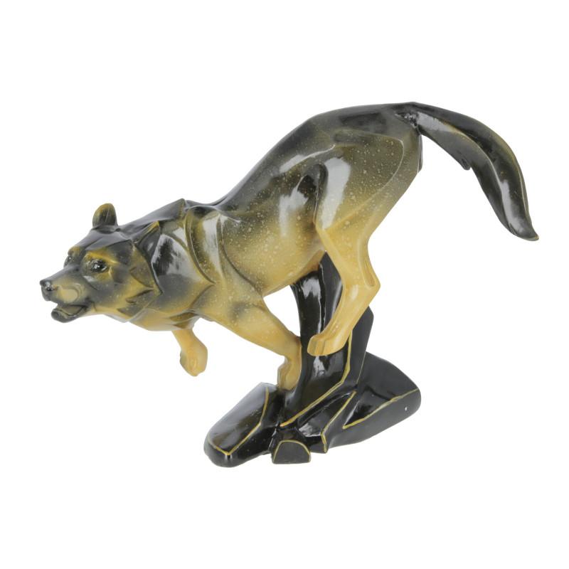 Figurka wilka w biegu