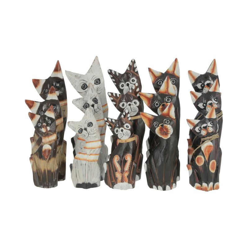 Drewniane koty 25/20/15cm