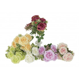 Kwiaty sztuczne bukiet róź z dodatkami