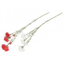Kwiaty sztuczne goździk x3