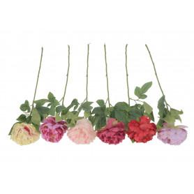 Kwiaty sztuczne pojedyncza piwonia