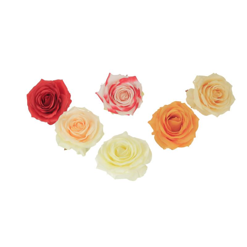 Kwiaty sztuczne róża wyrobowa mix