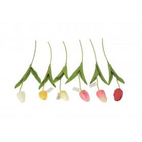 Kwiaty sztuczne tulipan pojedynczy mix