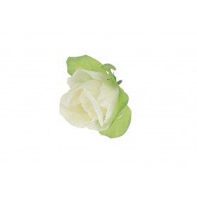 RÓŻA Z LISTKIEM (wyrobowa)-Kwiaty sztuczne