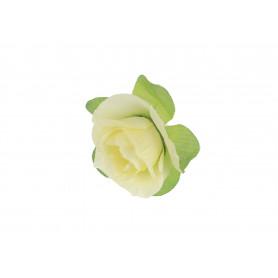Искусственные цветы: роза с листьями (бутон )
